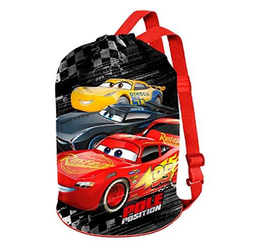 Karactermania Cars 3 Win  Bolsas de Tela y de Playa, 40 cm, Rojo