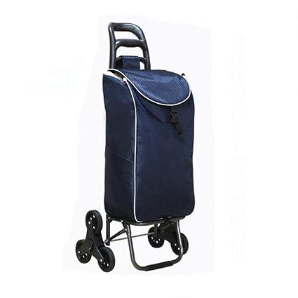 moxin Carrito de la carretilla - cesta de compras plegable 6 ruedas - Carro de la