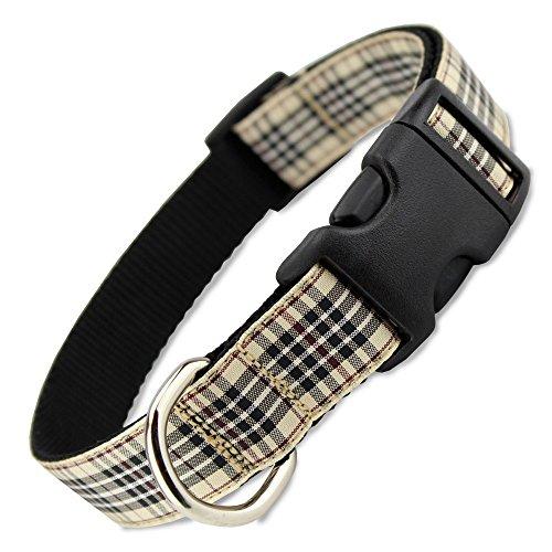 (The Artful Canine London Furberry Plaid Dog Collar, Medium Dogs 22-35 lbs (Collar: 3/4
