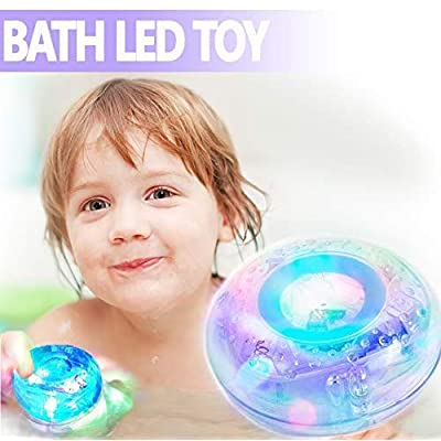 Light Up Bath Toys for Toddlers and Baby - LED Waterproof Floating Bathtub Toy - Light Up Toys for 1 Year Old Boys and Girls - Glowing Baby Bath Tub Toy: Home Improvement