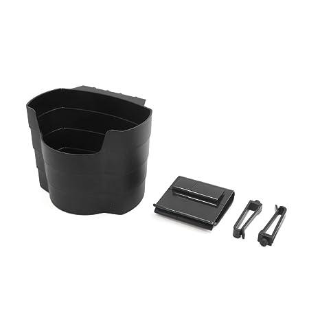 sourcing map PortaVasos de Plástico Negro Caja Organizador ...