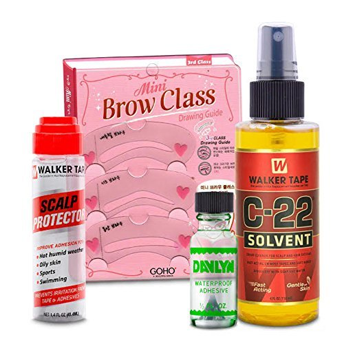 Lace Front Glue, Scalp Protector, Walker C22 Wig Adhesive Remover - Best Hairpiece Supply Kit For Wigs, Extensions, Toupees, and Hair Systems - Skin Safe - no Side Effects
