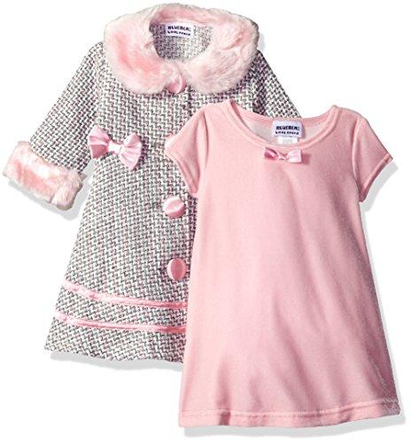 Blueberi Boulevard Dress - Blueberi Boulevard Baby Girls' Boucle Coat Dress, Pink, 12 Months