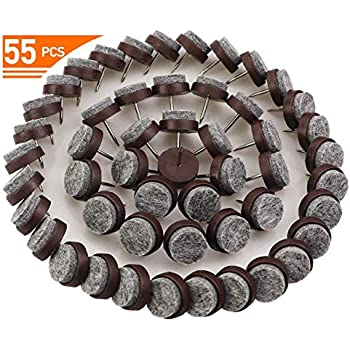 55pcs Round Felt Nail On Pad For Wooden Furniture Leg 0