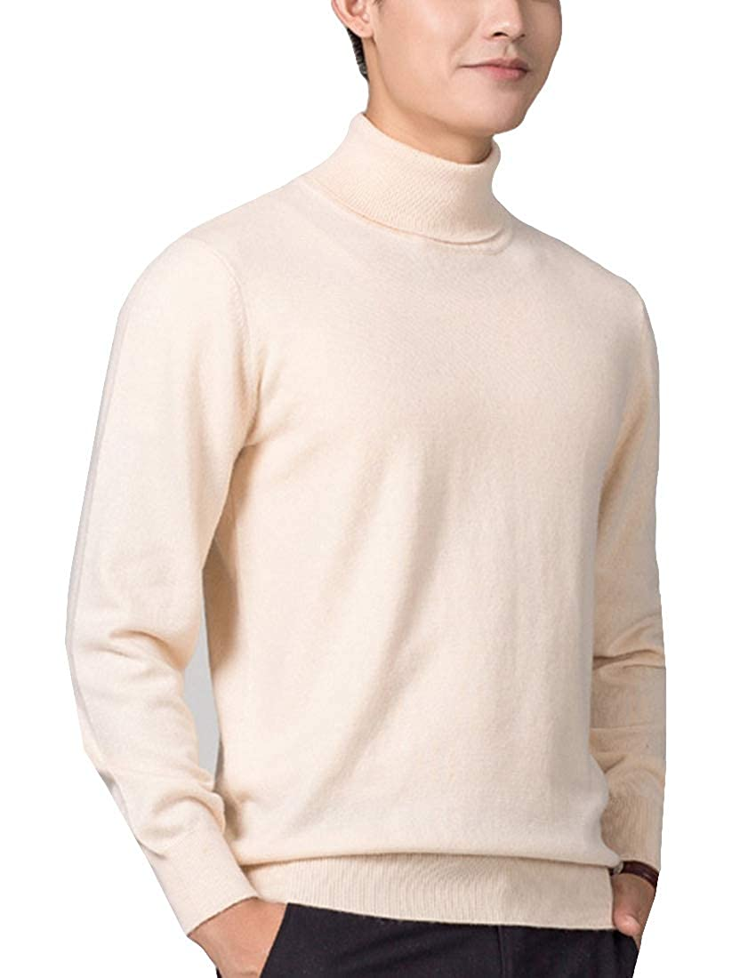 ONTBYB Mens Basic Thermal Turtleneck Sweaters Casual Knitted Pullover Sweaters