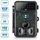 Tvird Trail Camera Hunting Camera 16MP 1080P No Flash Night Vision Wildlife Hunting Camera with 2.4 LCD 120° PIR Sensors IP66 Waterproof Protected