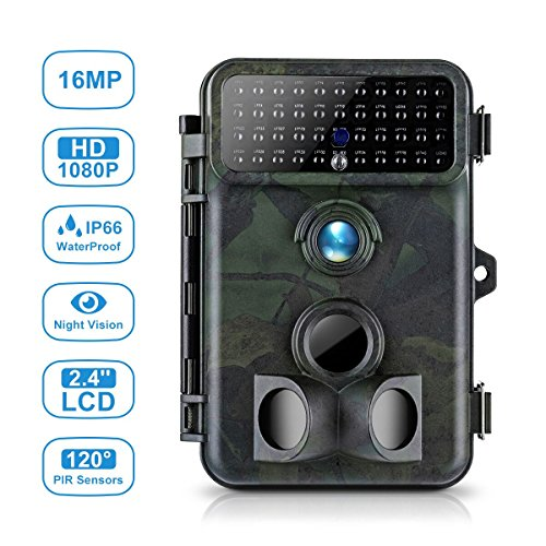 Tvird Trail Camera Hunting Camera 16MP 1080P No Flash Night