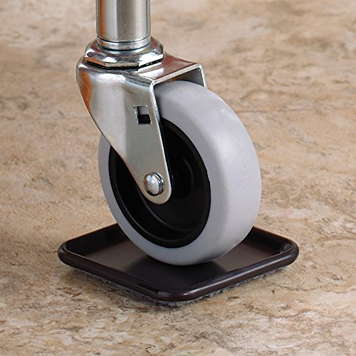 Waxman 4291995N 2 1/2 inch Carpet Based Square Caster Cup, Gray, 4 Pieces