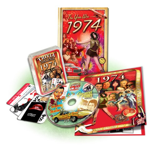 - Gift Set: 1974 Flickback Mini-Book, DVD & Trivia Playing Cards