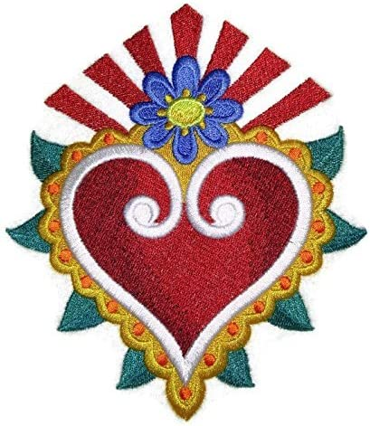 Custom and Unique Milagro Healing Hearts  Embroidered Iron On Patches