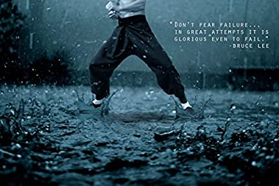 Don't fear failure…Bruce Lee(Quotes 35) Get Motivated Poster