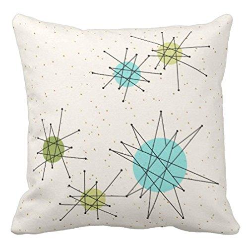 Emvency Throw Pillow Cover Iconic Atomic Starbursts Decorative Adorable Starburst Decorative Pillow