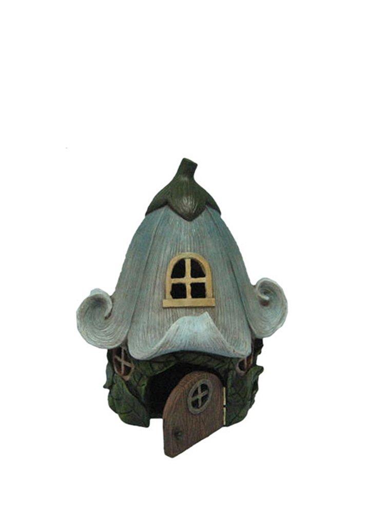 Hi-Line Gift Ltd Fairy Garden Lily Flower House All Line 72042-15