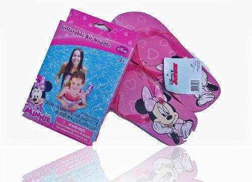 Plus Bonus Minnie Outdoor Pool//Beach Bag! Featuring Minnie /& Daisy Duck Splashing Outdoor Fun Disney Jr Minnie Mouse Water Play 35 Spray Mat