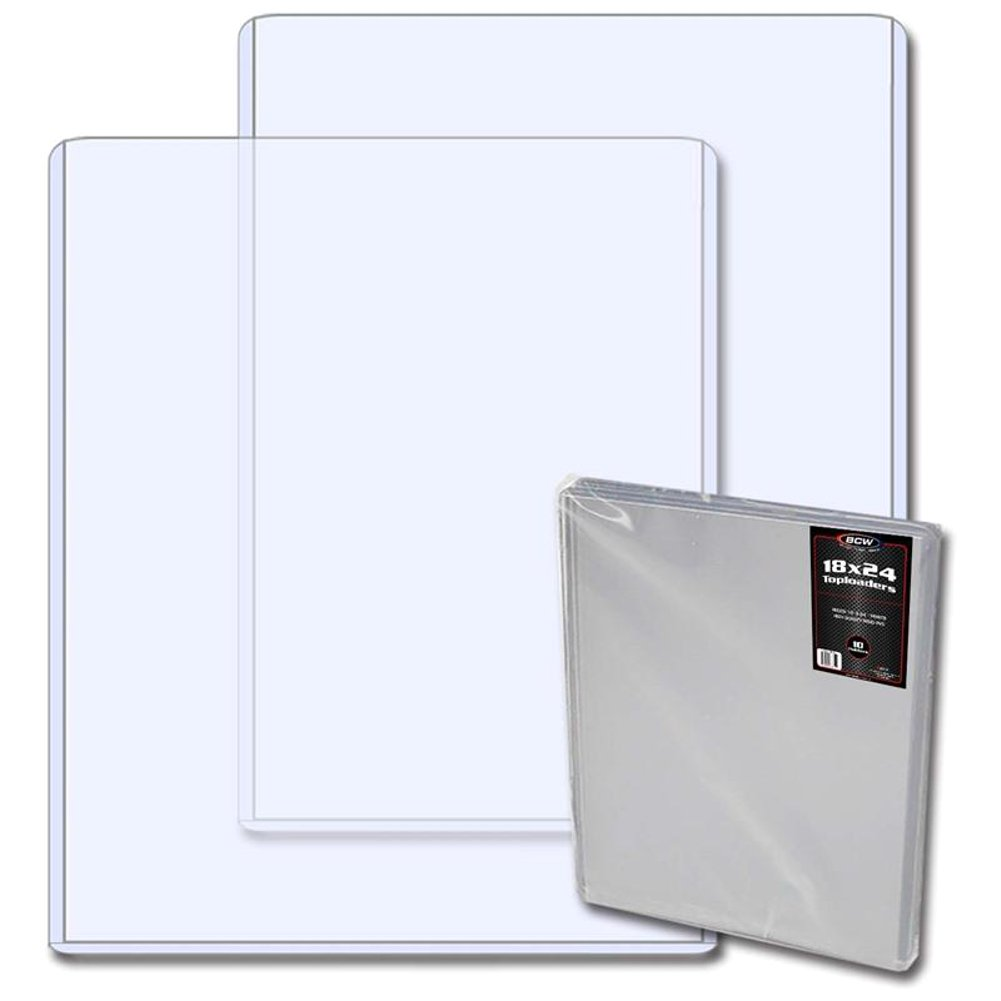 Amazon.com: (5) 18X24 Poster Topload Holders - Rigid Plastic Sleeves ...