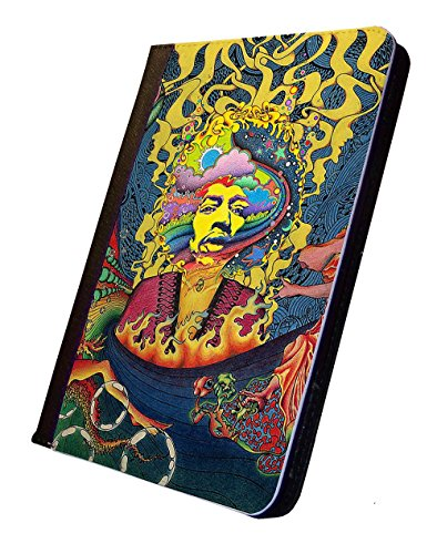 Customizable Jimi Hendrix iPad Leather Case, Design 2. For Apple iPad 2/3/4 Tablet. With Multi-Angle Stand Feature. Fits versions 2,3, and 4. (Jimi Hendrix Leather)