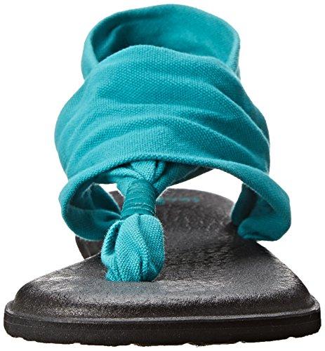 Sanuk Kvinners Yoga Fatle To Flip Flop Blågrønn