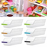Ireav Refrigerator Box - 6PCS Kitchen Storage Collecting Basket Fruit Organizer Rack Holder