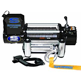 Superwinch 1510200 LP10000 Winch, 10,000lbs/4536kg single line pull with roller fairlead, and 12′ handheld remote