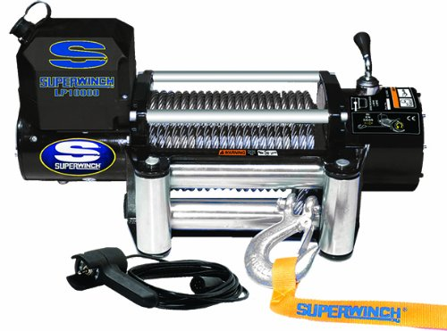 Superwinch 1510200 LP10000 Winch, 10,000lbs/4536kg single line pull with roller fairlead, and 12' handheld (Jeep Winch Roller)