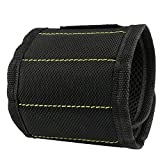 #5: ONSON Magnetic Wristband,5 Rows Strong Magnets Adjustable Magnetic Wrist Band for Holding Screws,Nails,Drill Bits and Small Tools,Very Unique Tool Gift for DIY Handyman,Men,Women - 1Pack/Black