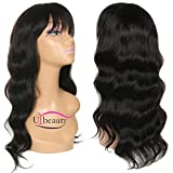 Urbeauty Hair Body Wave Wavy Wig Brazilian Lace Human Hair Wigs For Black Women with Baby Hair 130% Density Natural 22inch (#1B)