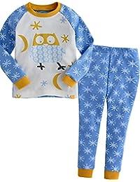 Kids Toddler Little Boys Girls Unisex 100% Cotton Sleepwear Pajamas Pjs  2pcs Set · Vaenait baby cc82f60cd