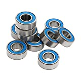 SODIAL 10Pcs MR115 2RS Ball Bearings 5x11x4mm For Traxxas Slash Rustler Stampede Wheel