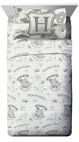 Jay Franco Harry Potter Spellbound 3 Piece Twin Sheet Set, Gray by Jay Franco