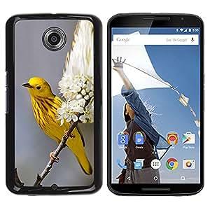 YOYOYO Smartphone Protección Defender Duro Negro Funda Imagen Diseño Carcasa Tapa Case Skin Cover Para Motorola NEXUS 6 X Moto X Pro - primavera amarilla flores de la naturaleza en flor