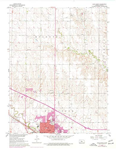 (YellowMaps Hays North KS topo map, 1:24000 Scale, 7.5 X 7.5 Minute, Historical, 1961, Updated 1977, 27.11 x 21.12 in - Paper)