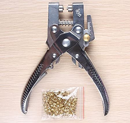 Eyelet Pliers Tool Hole Punch Centre Leather Belt Card Fabric Canvas Craft