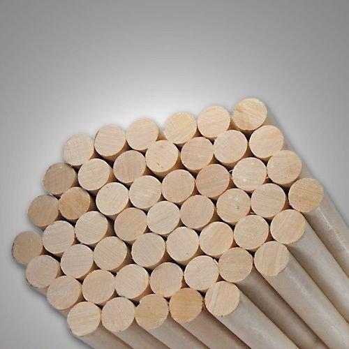 Pack of 20 Round Hardwood Dowel Rods 1/2'' Dia x 36'' Long 7308U C.C. White