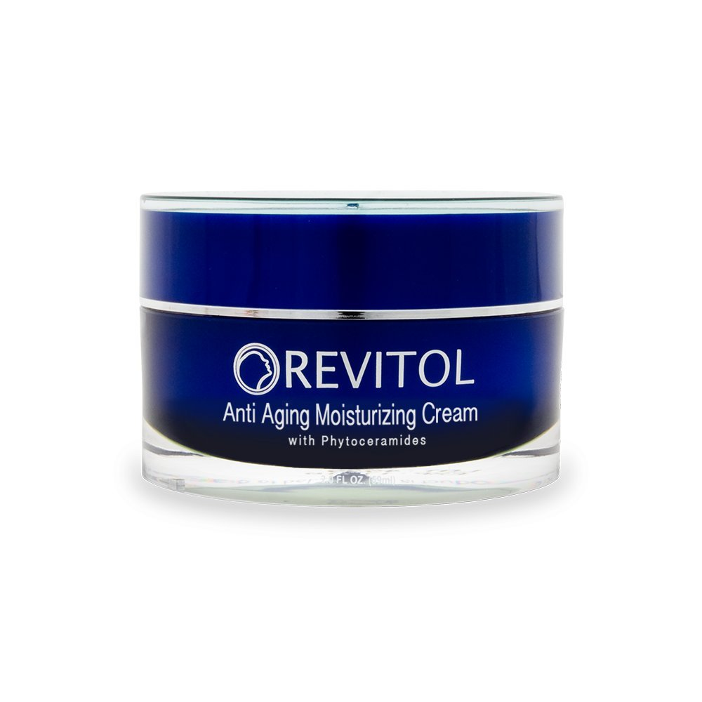 Revitol Anti-Aging Skin Cream Moisturizer with Phytoceramides - Moisturizing Lotion with Phytoceramides, Natural Ceramides, Argiline, Shea Butter, and Primrose Oil