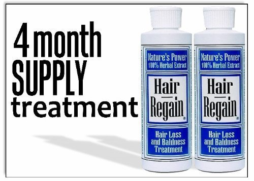 Hair Regain Hair Loss Treatment & Accelerator - 4 Month Supply by Herbal Essentials - Natural Products for Hai