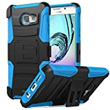 Galaxy A7 Case, MoKo Shock Absorbing Hard Cover Ultra Protective Heavy Duty Case with Holster Belt Clip + Built-in Kickstand for Samsung Galaxy A7 (2016) - Blue (NOT FIT Galaxy A7 2015 Edition)