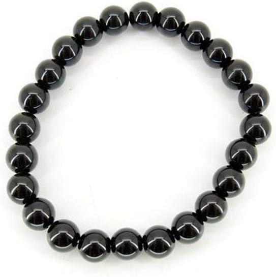 Pulsera de Obsidiana Bola Lisa 8mm Minerales y Cristales, Belleza energética, Meditacion, Amuletos Espirituales
