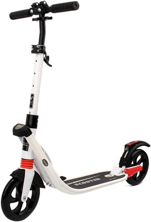 新しいスクーター大人の都市スクーター二輪折りたたみ品質スクーター ホワイト