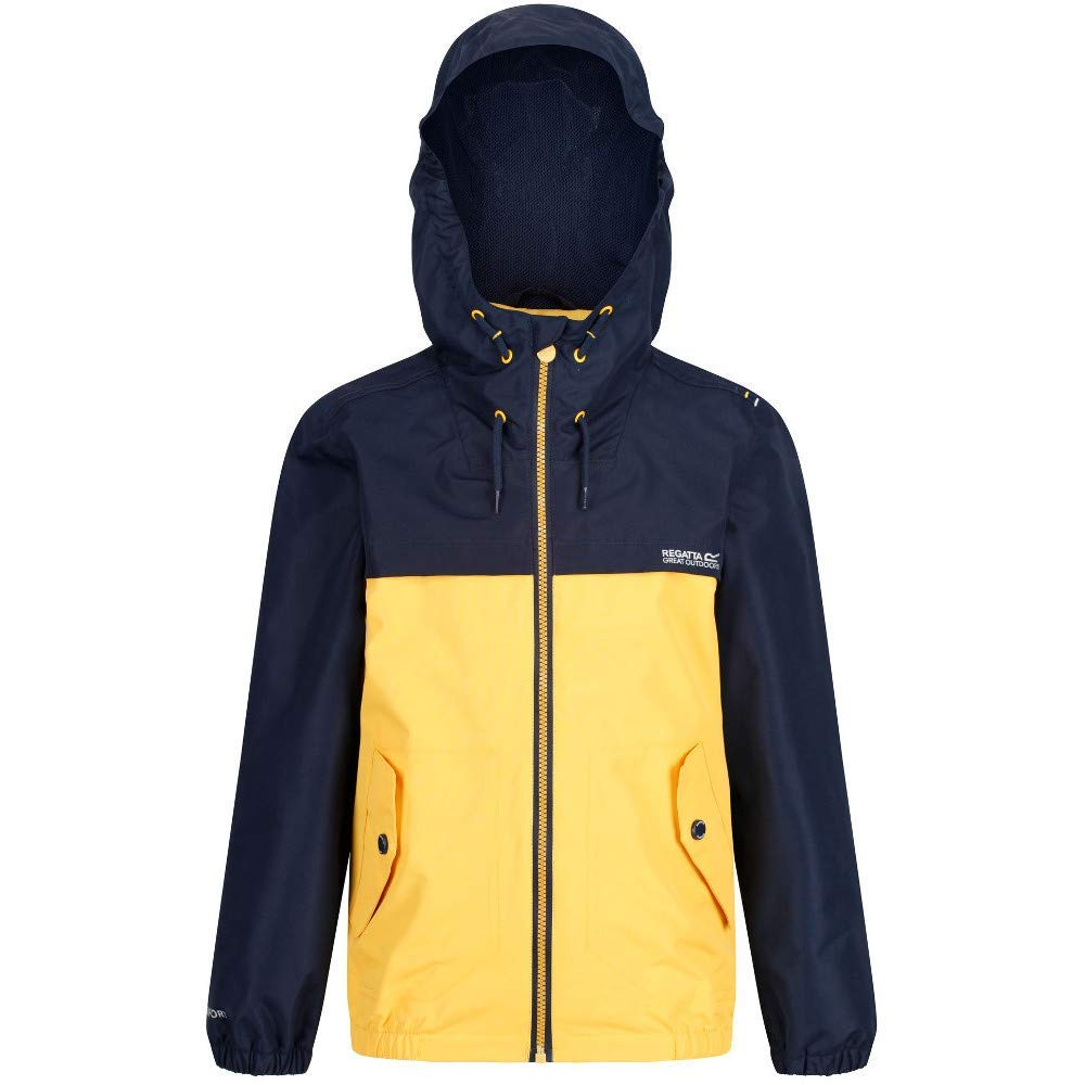 Regatta Childrens Hubbell Waterproof Mesh Lined Hooded Outdoor Jacket