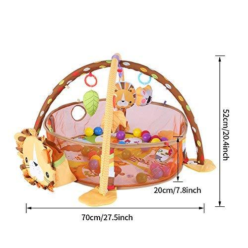 L/öwe mit Schutzgitter Mesh Bunte B/älle Spielzeug Erlebnisdecke Krabbeldecke mit weichem Spielbogen Cocoarm Baby Spiel Aktivit/ät Gymnastikmatte