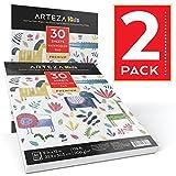 Arteza Kids 9X12'' Watercolor Pad (135lb/200g, 30 Sheets, 2 Pack)