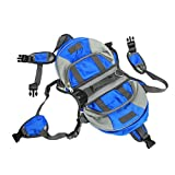 Adjustable Breathable Multifunction Oxford Pet Dog Backpack Quick Release Saddle Bag Outdoor Carrier Travel Hiking Camping (S/M/L Size) (blue, L)