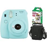 Câmera instantânea Fujifilm Instax Mini 9 Azul Aqua + Pack 10 fotos + Bolsa, Fujifilm, INSTAXKIT22A, Azul Acqua