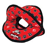 Tuffy Ultimate Series 4-Way Ring Toy, Red Paws, My Pet Supplies