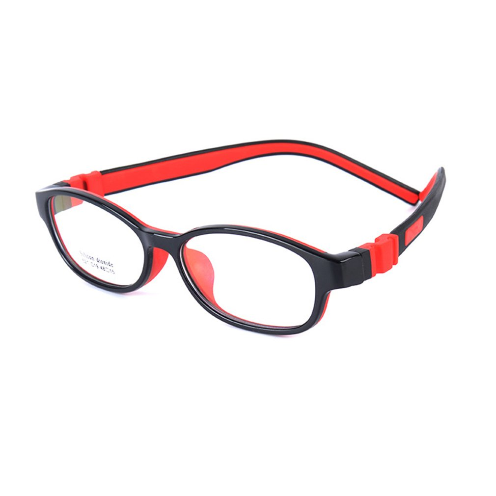Junkai Mädchen Jungen Silikon Professionel Klare Linse Brillengestell + Auto Form Brillenetui - ka18071003 X180710ETYJJ0301-ka