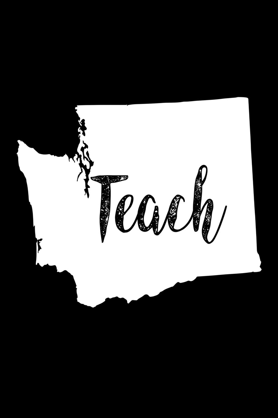 Download Teach: Washington Map Back To School Gift Notebook For Teachers pdf