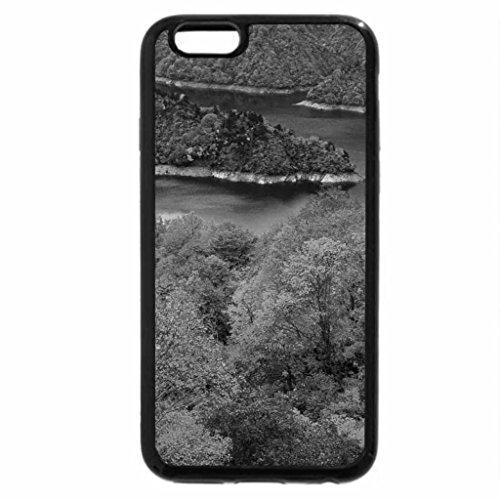 iPhone 6S Plus Case, iPhone 6 Plus Case (Black & White) - River in the fall