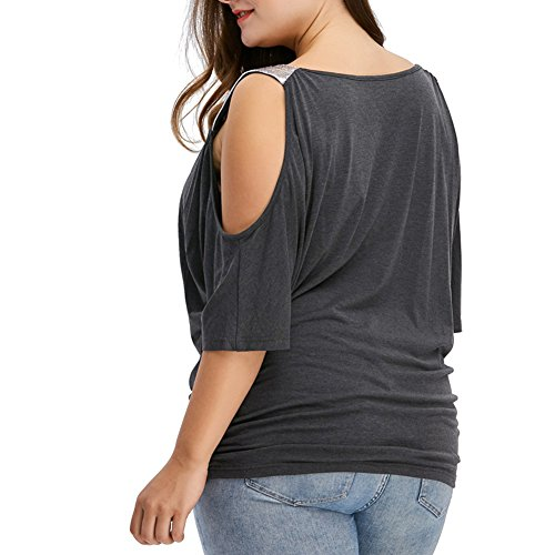 iBaste Noir Chemise T Lvres Femme shirt Taille Sans rwpg0rqAx
