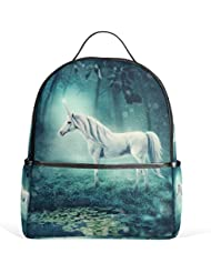 JSTEL Unicorn Forest School Backpack 4th 5th 6th Grade for Boys Teen Girls Kids