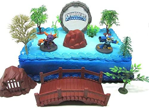 Wondrous Skylanders Birthday Cake Topper Featuring Skylander Characters And Funny Birthday Cards Online Elaedamsfinfo